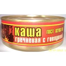Каша гречневая с говядиной ГОСТ  Р 55333-2012